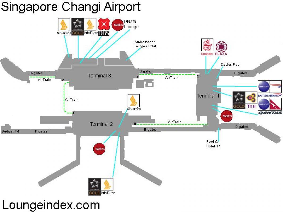 Célèbre L'aéroport de singapour carte - carte de l'aéroport de Singapour  PT92