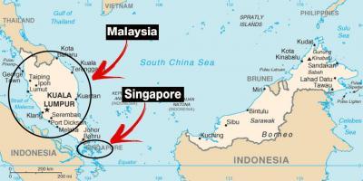Carte Du Monde Kuala Lumpur.Singapour Carte Cartes De Singapour Republique De Singapour